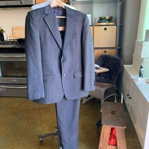 Zara Man Speckled Wool Grey Jacket & Pants Suit